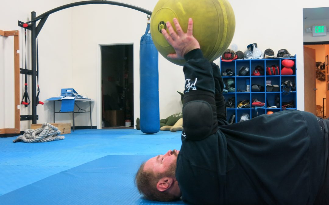 150 Pound Medicine Ball Press